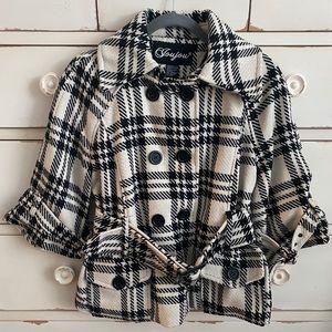Jou Jou Black and White Coat
